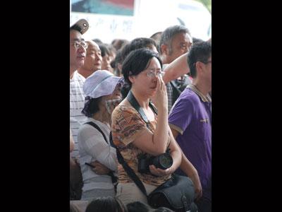 涙する中国人の観客